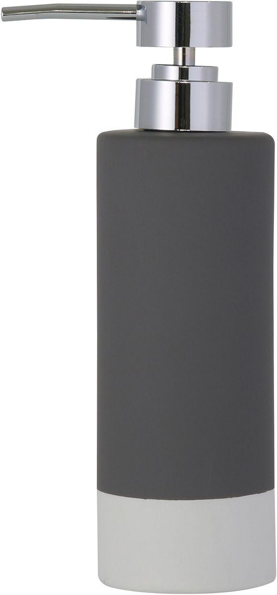 """Диспенсер для мыла Axentia """"Florenz"""" - незаменимый аксессуар для тех, кто ценит чистоту своей раковины и экономный расход мыла. Изделие выполнено из керамики, покрытой прорезиненным софт-тач пластиком. Размеры: 6,6 x 6,6 x20,3 смОбъем: 350 мл"""