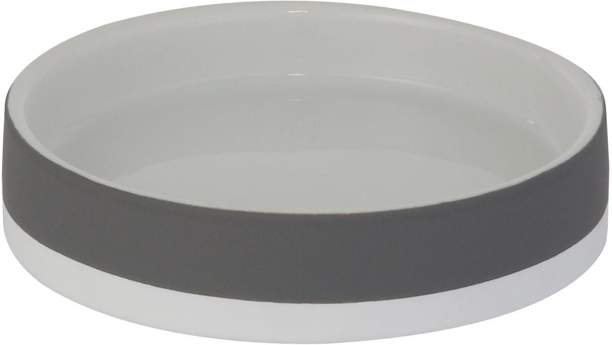Мыльница Axentia Florenz, цвет: серый122359Мыльница Axentia Florenz - незаменимый аксессуар для ванной комнаты.Изделие изготовлено из пластика и выполнено в классическом дизайне. Овальная конструкция удобна для размещения самых распространенных форм кусков мыла. Размеры: 11,6 х 11,6 х 2,6 см.