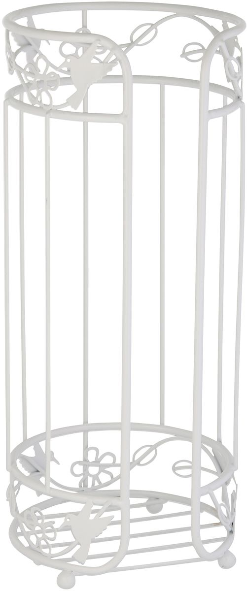 Накопитель для туалетной бумаги Axentia Lyon, цвет: белый, 15 х 15 х 37 см122503Накопитель Axentia из коллекции Lyon для туалетной бумаги на 3 рулона из стали покрытой высококачественной порошковой краской белого цвета.Размер: диаметр 15 см., высота 37 см.