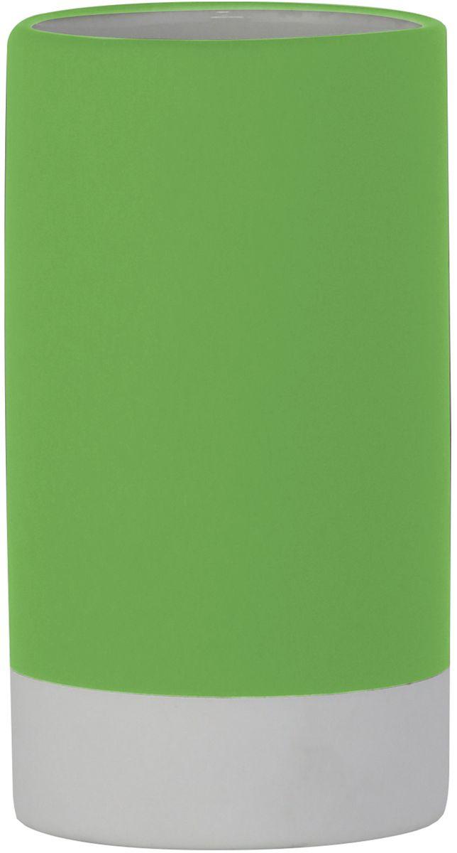 Стакан для ванной комнаты Axentia Florenz, цвет: зеленый, 7 х 7 х 12 см122519Стакан для ванной комнаты Axentia Florenz - незаменимый аксессуар для ванной комнаты. Он зготовлен из керамики покрытой снаружи до основания прорезиненным приятным на ощупь софт-тач пластиком. Изысканность естественных линий, благородный цвет, приятная на ощупь поверхность, все это добавит благородство и утонченный дизайн вашей ванной комнате. Размеры: 7 х 7 х 12 см.