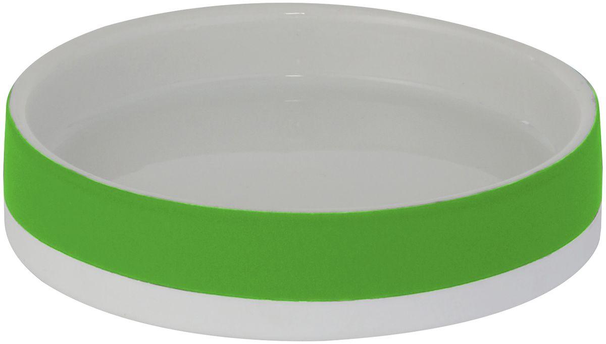 Мыльница Axentia Florenz, цвет: зеленый, 11,6 х 11,6 х 2,6 см122520Мыльница Axentia Florenz - незаменимый аксессуар для ванной комнаты.Изделие изготовлено из пластика и выполнено в классическом дизайне. Овальная конструкция удобна для размещения самых распространенных форм кусков мыла. Размеры: 11,6 х 11,6 х 2,6 см.