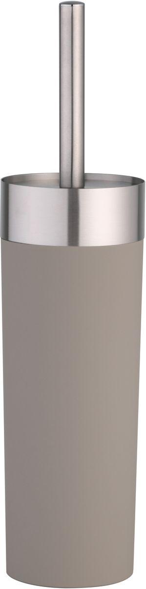 Гарнитур для туалета Axentia Lena, цвет: серый, 8,8 х 8,8 х 36,5 см