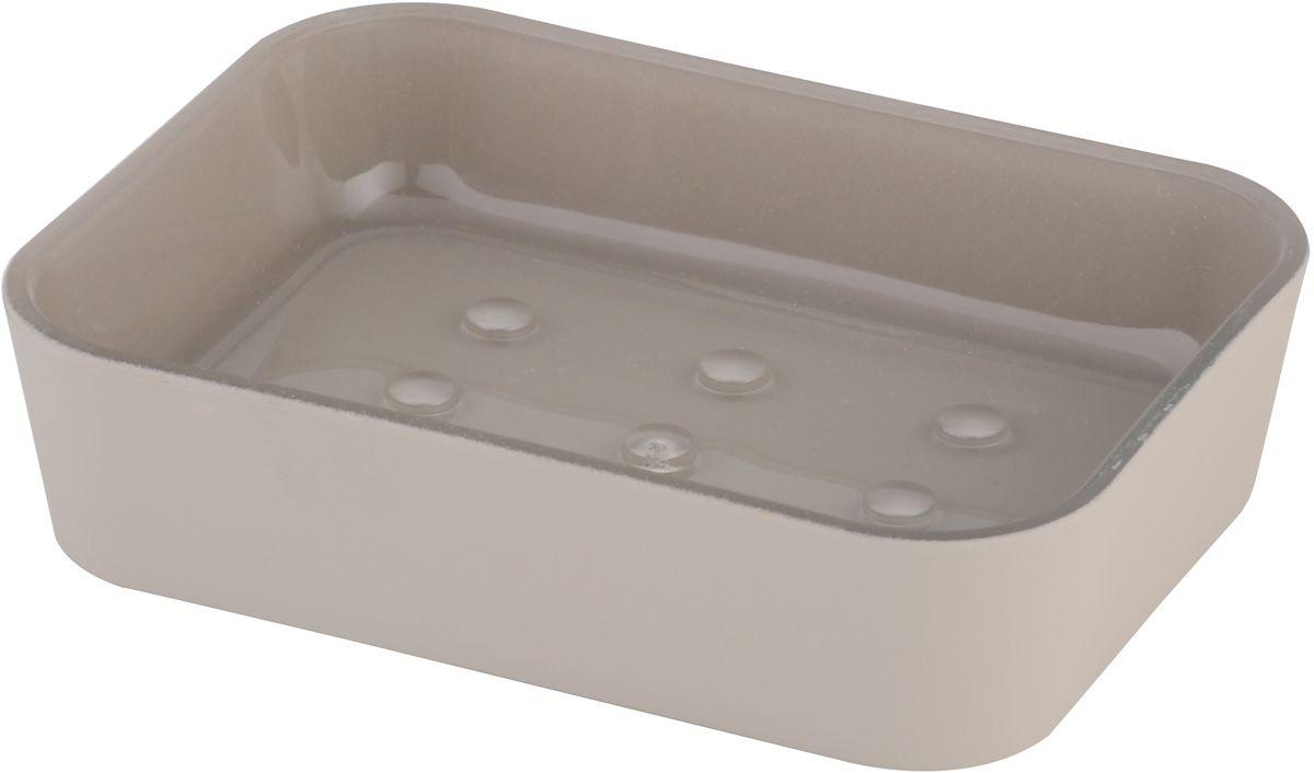 Мыльница Axentia Lena, цвет: серый, 11,8 х 8,9 х 2,8 см126725Мыльница Axentia Lena - незаменимый аксессуар для ванной комнаты.Изделие изготовлено из софт-тач пластика и выполнено в классическом дизайне. Форма мыльницы удобна для размещения самых распространенных форм кусков мыла. Размеры: 11,8 x 8,9 x 2,8 см.