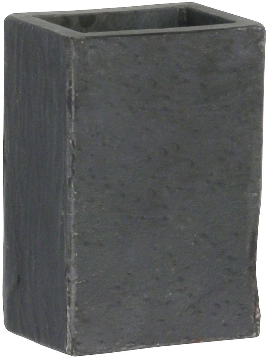 Стакан для ванной комнаты Axentia Granada, цвет: черный, 7 х 5 х 11 см диспенсер для жидкого мыла axentia vanja 17 х 7 5 х 7 5 см
