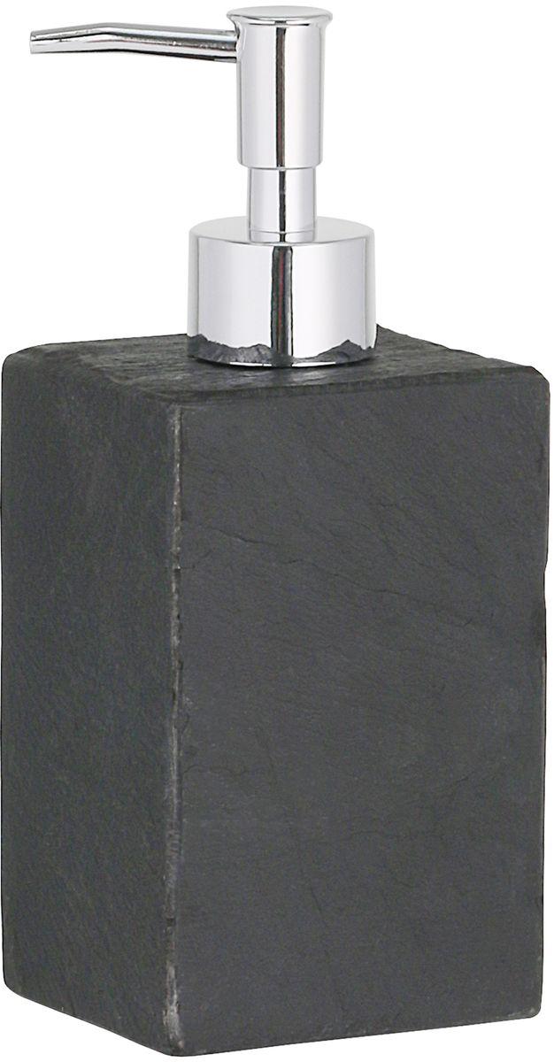 Дозатор для жидкого мыла Axentia Granada, цвет: черный, 7,5 х 6,5 х12 см126770Дозатор Axentia Granada квадратный для жидкого мыла из Schiefer - сланец, натуральный камень цвета антрацит. Не поглощает воду, устойчив к кислотам и биологическому воздействию. Насос хромированный.Размер: 7,5 x 6,5 x 18 см., Объем 220 мл.