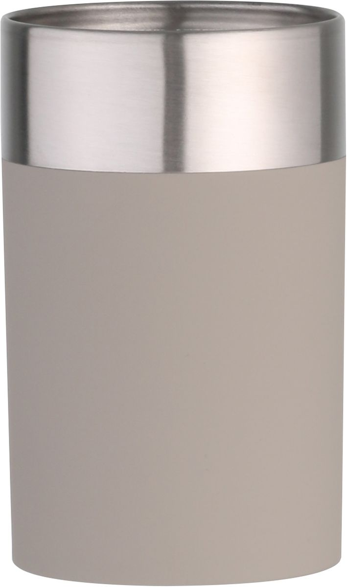 """Стакан для ванной комнаты Axentia """"Lena"""" - незаменимый аксессуар для ванной комнаты. Он изготовлен из софт-тач пластика и нержавеющей стали. Изделие подходит для размещения зубных паст, щеток, расчесок и прочих принадлежностей. Благодаря классическому дизайну стакан идеально подойдёт для любой ванной комнаты . Диаметр: 6,8 смВысота: 11,2 см."""