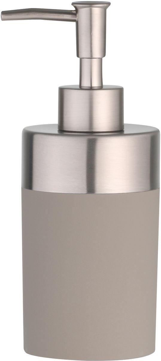Дозатор для жидкого мыла Axentia Lena, цвет: серый, 7 х 7 х 17,5 см126788Дозатор Axentia Lena для жидкого мыла из цветного софт-тач пластика и нержавеющей стали. Приятный на ощупь прорезиненный пластик серо-коричневого цвета и хромированный насос.Размер: диаметр 7 x высота 17,5 см. Объем 300 мл.