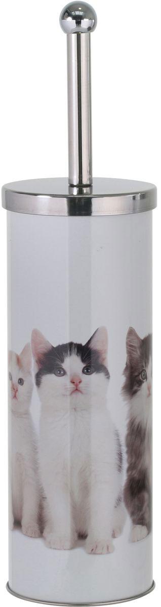 Гарнитур для туалета Axentia, цвет: белый, 9,5 х 9,5 х 26,5 см