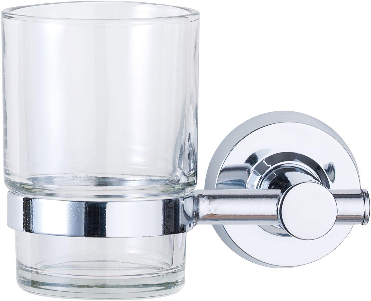 Стакан для ванной комнаты Axentia, 14 х 10 х 5,5 см282023Стакан для ванной комнаты Axentia Riviera настенное крепление шурупы. Стакан из стекла, крепление хромированный пластик; Размер товара: 14 x 10 x 5,5 см.