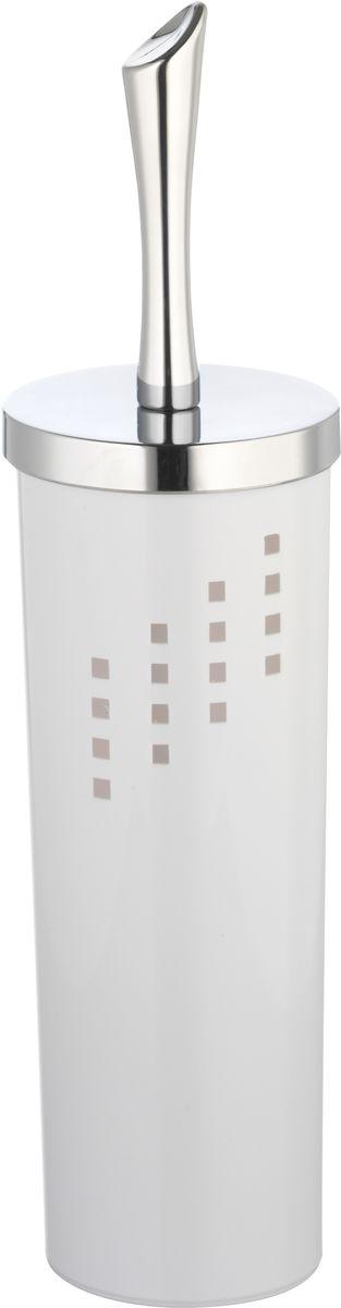 """Ершик для унитаза Axentia """"Odeon"""" станет достойным дополнением туалетной комнаты. В комплект входит ершик для унитаза и подставка, выполненная из пластика в оригинальном дизайне. Прочная ручка из хромированной стали и жесткий ворс обеспечивают эффективное использование. Высота: 37 см."""