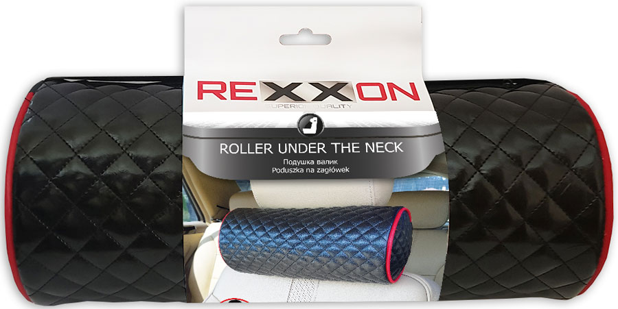 Купить Подушка-валик Rexxon Элегант , цвет: черный, 30 х 14 см