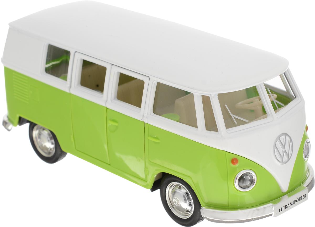 Autotime Модель автомобиля Volkswagen T1 Transporter цвет салатовый белый autotime collection 11446 уаз 31514 вдв