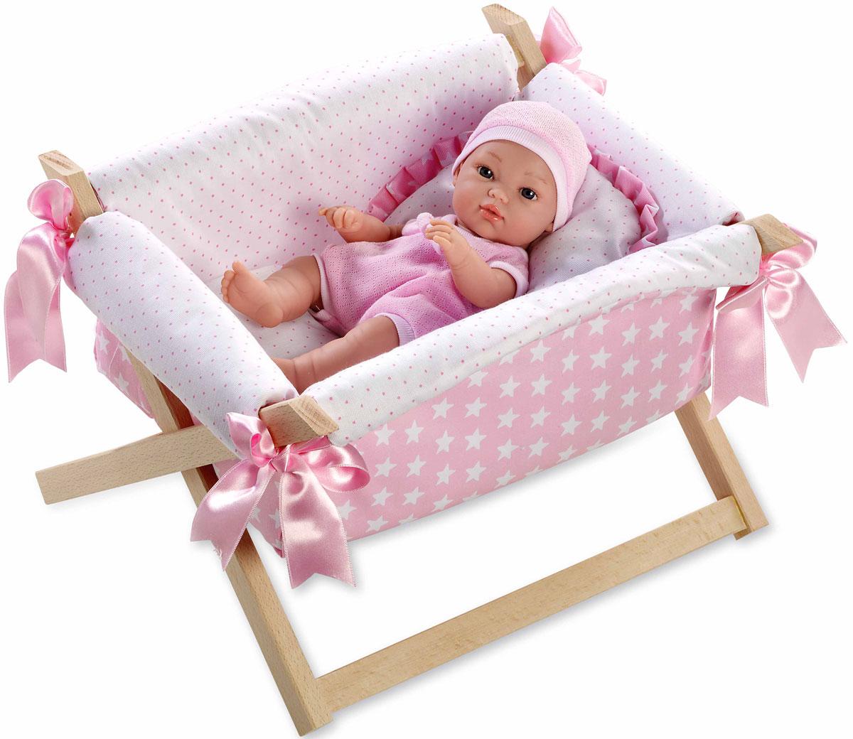 Arias Пупс Elegance в кроватке Т11068 arias пупс цвет платья белый розовый 42 см т59289