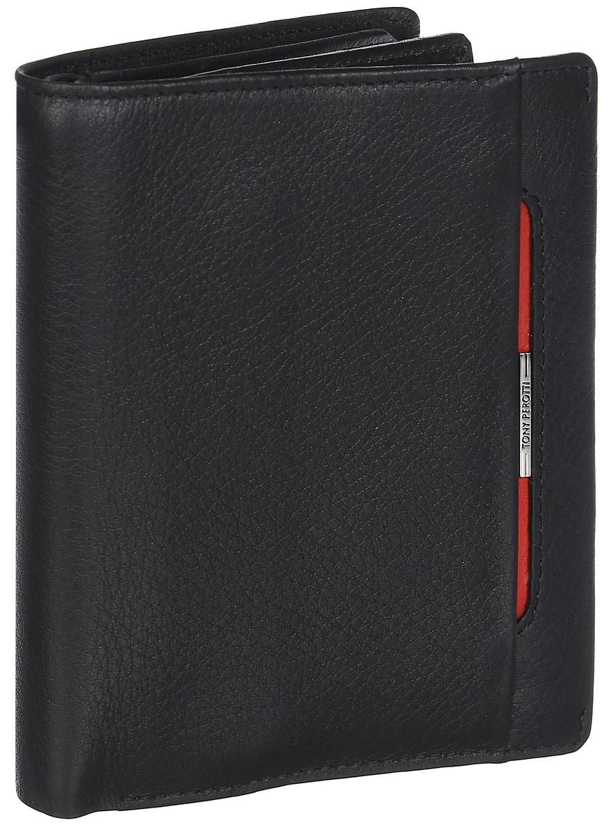 Обложка для автодокументов мужская Tony Perotti, цвет: черный. 681236/1681236/1Две автономные секции: одна для паспорта, другая для автодок-ов.