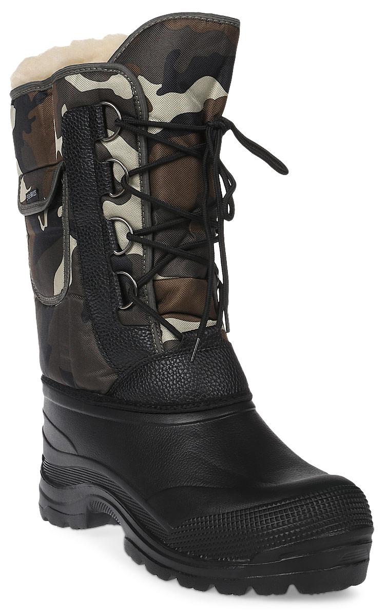 Сапоги зимние EVA Shoes Аляска (-40). Размер 46, цвет: черный, коричневый камуфляж59118_черный, коричневый камуфляж_461