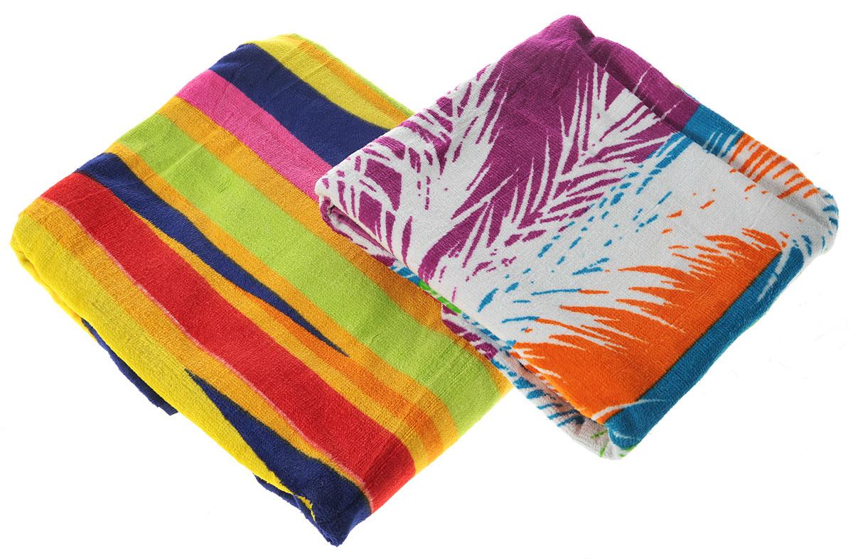 Набор пляжных полотенец Bonita, цвет: белый, оранжевый, синий, 75 х 150 см, 2 шт84496Набор Bonita состоит из двух пляжных полотенец,выполненных из натуральной махровой ткани (100% хлопка).Изделия отлично впитывают влагу, быстро сохнут, сохраняютяркость цвета и не теряют формы даже после многократныхстирок. Полотенца Bonita очень практичны и неприхотливы в уходе.Такой набор послужит приятным подарком.Уважаемые клиенты! Обращаем ваше вниманиена цветовой ассортимент полотенец в наборе. Поставкаосуществляется в зависимости от наличия на складе.