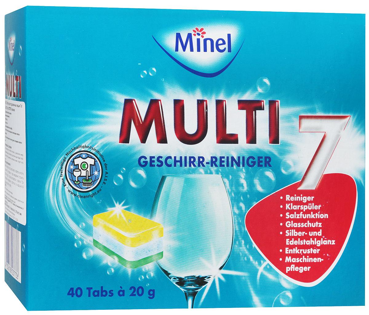 Таблетки для посудомоечных машин Minel Multi, 40 шт соль для посудомоечных машин snowter 1 5 кг