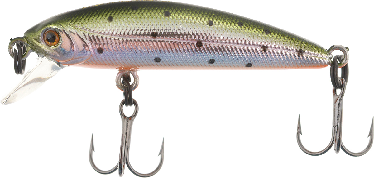 Воблер Tsuribito Minnow SS, цвет 055, 35 мм fishing floating minnow bass pike trout jointed minnow swimbait 130mm 39g