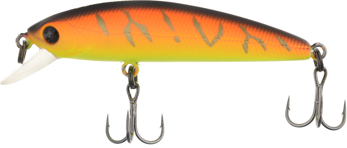 Воблер Tsuribito Minnow 50SP, цвет: желтый, оранжевый (029), длина 5 см, 3,1 г