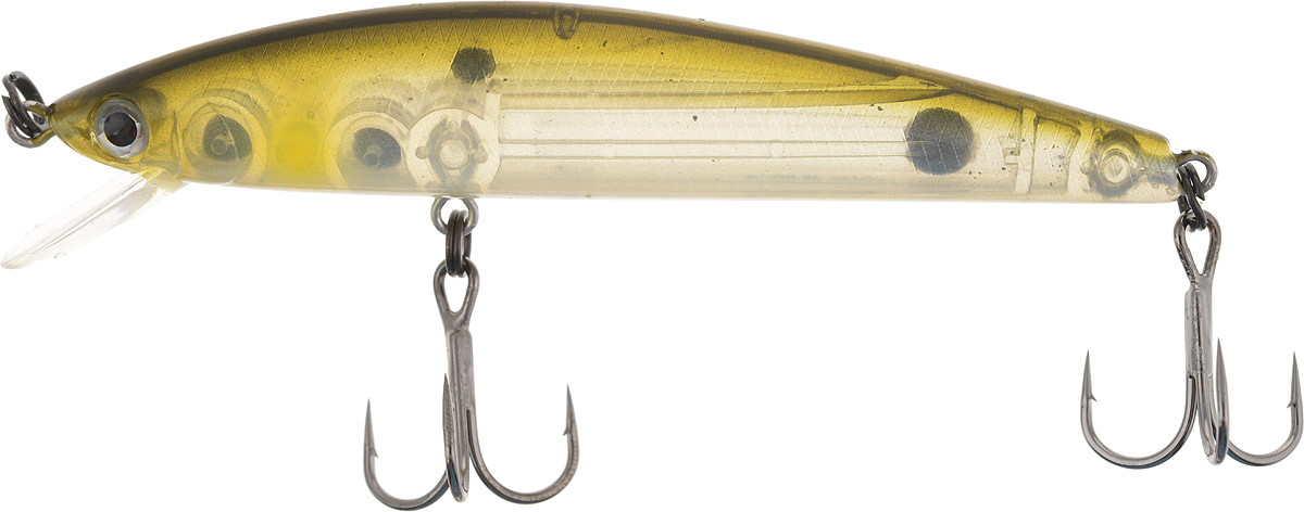 Воблер Tsuribito Minnow 80SP, цвет: серебристый, зеленый (066), длина 8 см, 6,9 г24607Воблер Tsuribito Minnow 80SP - отличная приманка для ловли на небольших глубинах и над зарослями травы, где часто охотится щука и другие хищники. Благодаря системе дальнего заброса с магнитом воблер очень хорошо летит при забросе, и устойчиво играет даже при проводке с рывками. Мощные тройники надежно засекают рыбу при поклевке. Все эти качества вместе с реалистичной игрой делают этот воблер отличным орудием для ловли крупного хищника. Изделие выполнено из высококачественного пластика и металла.