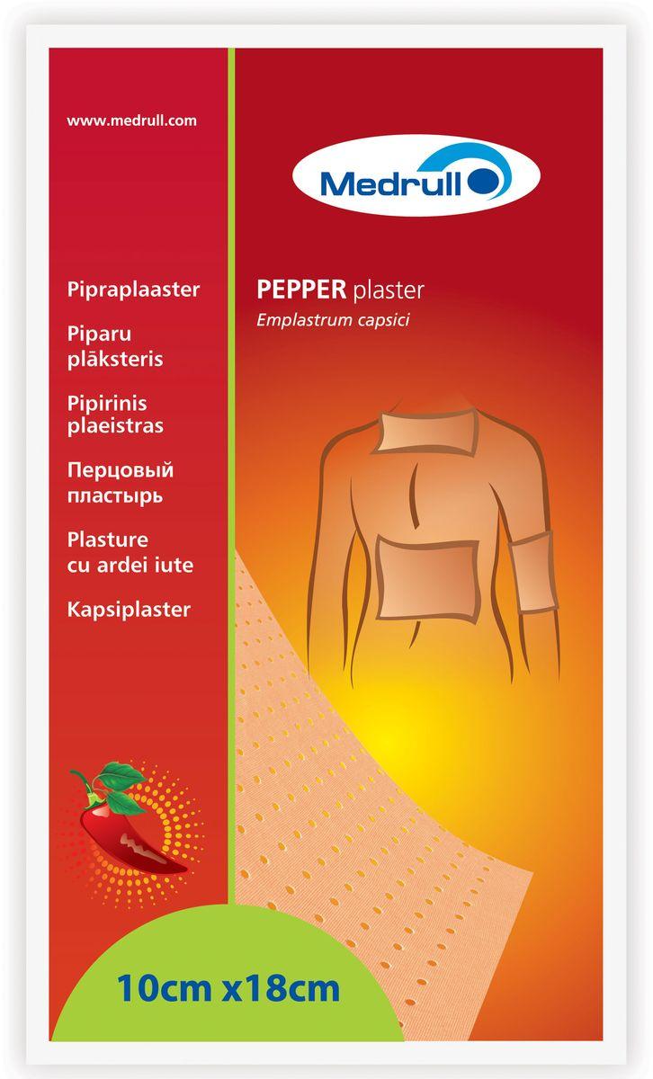 Пластырь перцовый Medrull, перфорированный, 10 х 18 см4742225001924Обезболивающее средство для местного применения, оказывает анальгезирующее и местнораздражающее действие. Раздражает кожные рецепторы, улучшает трофику тканей, снижает болевые ощущения (отвлекающий эффект). Изготовлен на основе экстракта стручкового перца. Применяется в качестве вспомогательного средства для облегчения простудных состояний, а так же для улучшения физического состояния за счет согревающего эффекта.