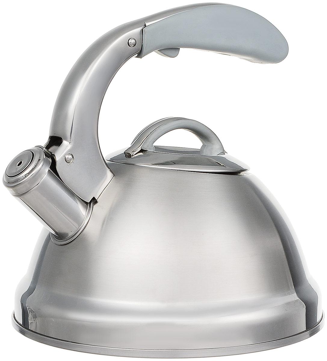 Чайник Dekok со свистком, 2,5 лWK-106Чайник Dekok изготовлен из прочной нержавеющей стали с зеркальной и матовой полировкой. Изделие не подвержено коррозии и окислениям. Сверхмощное капсульное дно и утолщенный корпус обеспечивают быстрый и равномерный нагрев, надолго сохраняя вскипяченную воду горячей. Эргономичная ручка, выполненная из термосиликона с покрытием Soft-touch, обеспечивает удобный и безопасный хват. Чайник оснащен свистком с устройством для открывания носика, что позволит вам контролировать процесс подогрева или кипячения воды. Выполненный из качественных материалов чайник Dekok при кипячении сохраняет все полезные свойства воды. Подходит для всех типов плит, включая индукционные. Можно мыть в посудомоечной машине.Диаметр чайника (по верхнему краю): 10 см.Высота чайника (с учетом ручки): 23 см.Высота чайника (без учета ручки): 14 см.