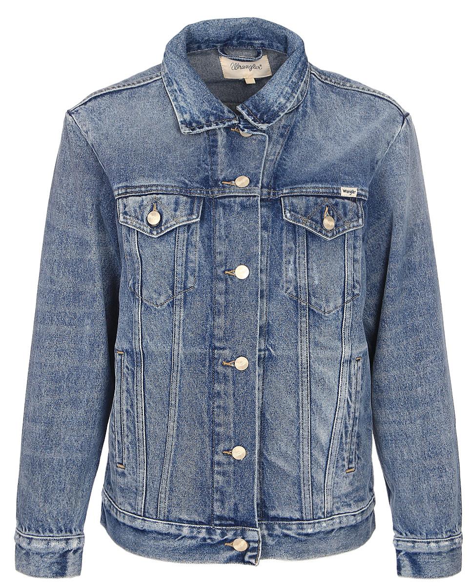 Куртка жен Wrangler, цвет: синий. W4070599E. Размер M (44)W4070599E