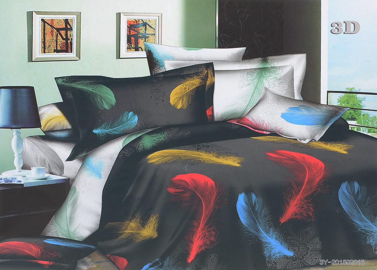Комплект белья МарТекс Мечта, евро, наволочки 70х7001-1059-3Комплект постельного белья МарТекс Мечта, выполненный из микрополиэстера, состоит из пододеяльника, простыни и четырех наволочек. Изделия оформлены оригинальным рисунком. Такой комплект подойдет для любого стилевого и цветового решения интерьера, а также создаст в доме уют. Приобретая комплект постельного белья МарТекс, вы можете быть уверенны в том, что покупка доставит вам и вашим близким удовольствие и подарит максимальный комфорт.Советы по выбору постельного белья от блогера Ирины Соковых. Статья OZON Гид