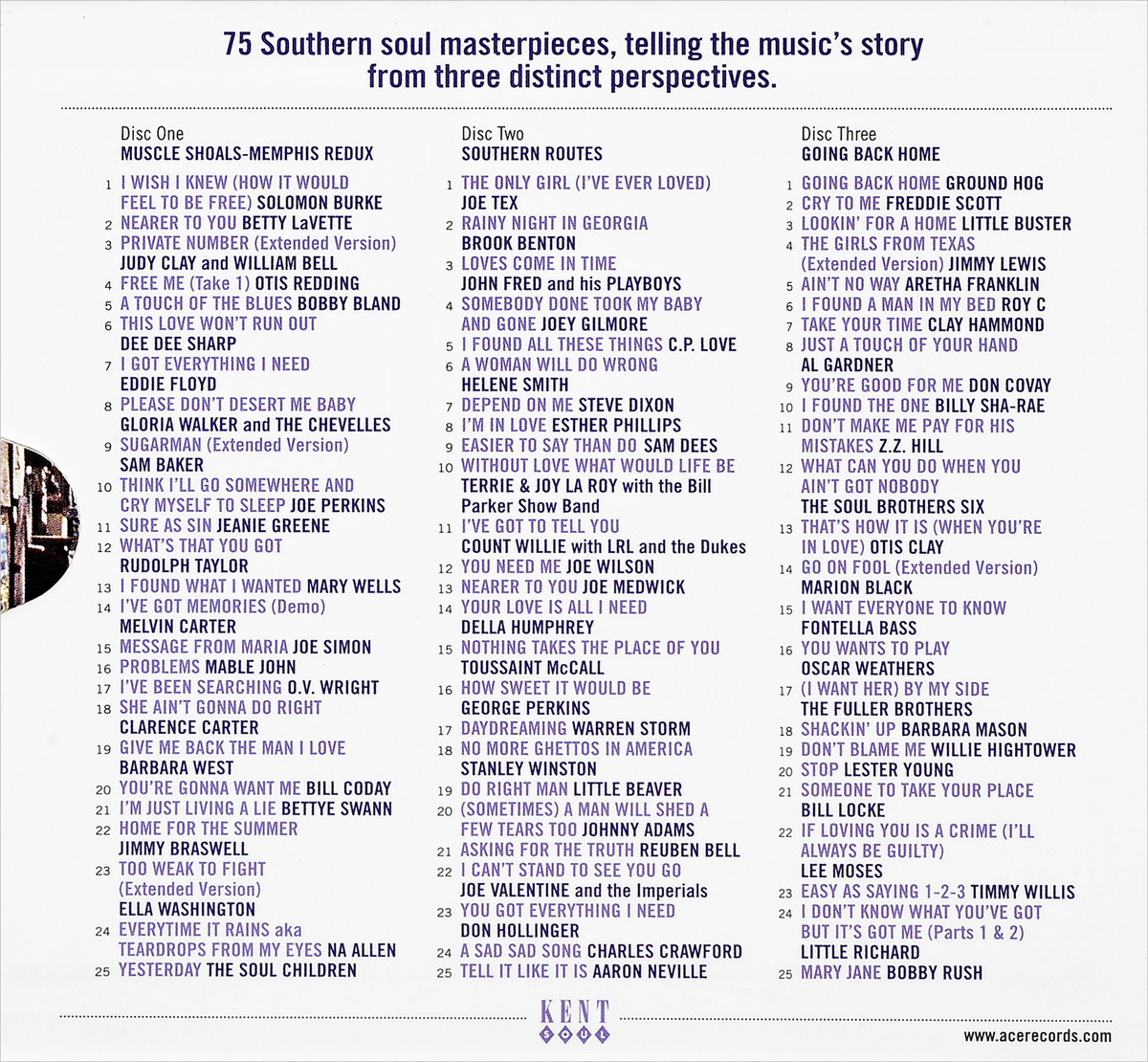 Back To The River - More Southern Soul Stories 1961-1978 (3 CD)