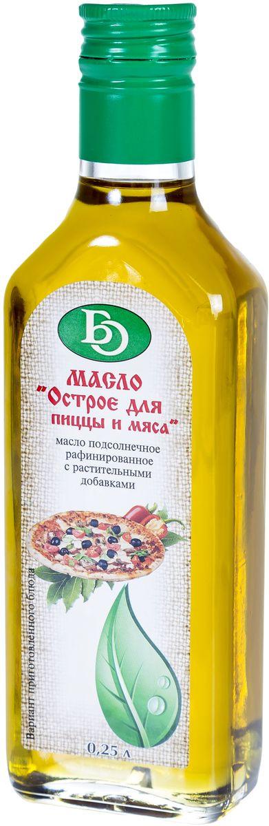 Бизнесойл масло подсолнечное рафинированное с растительными добавками острое для пиццы и мяса, 250 мл масла душистый мир масло shineway 250 мл