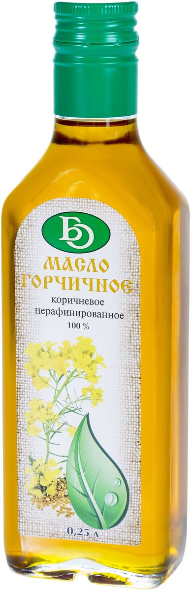 Бизнесойл масло горчичное коричневое нерафинированное, 250 мл4640005505092Масло горчичное Бизнесойл коричневое нерафинированное 100% натуральный продукт без консервантов и искусственных добавок, полученный из семян горчицы путем холодного прессования. Масло имеет пикантный вкус с горчичными нотками и яркий желтый цвет. В нем содержится большое количество биологически активных веществ, витаминов А, D, E, K, F, группы В: В3 (ниацин), В4 (холин), В6 (пиридоксин), минералов, а также растительных гормонов фитостеролов. Подходит для заправки каш и салатов, консервирования овощей, приготовления выпечки, а также для термической обработки (жарки и запекания).Масла для здорового питания: мнение диетолога. Статья OZON Гид