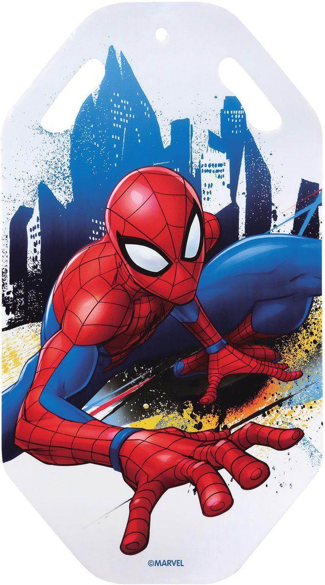Ледянка 1TOY Marvel. Человек-Паук, цвет: красный, длина 92 смТ10474Ледянка с прорезями для рук - для любителей зимних спортивных развлечений с героями любимого мультфильма. Выполнена из ПВХ. Ледянка подарит много радостных моментов вашему ребенку.