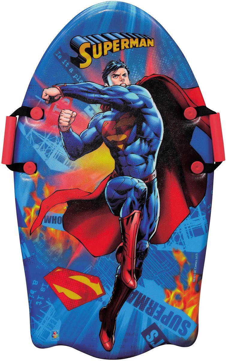 Ледянка 1TOY WB. Супермен, с ручками, цвет: красный, длина 92 смТ104781toy WB Супермен, ледянка 92 см, с плотн. ручками