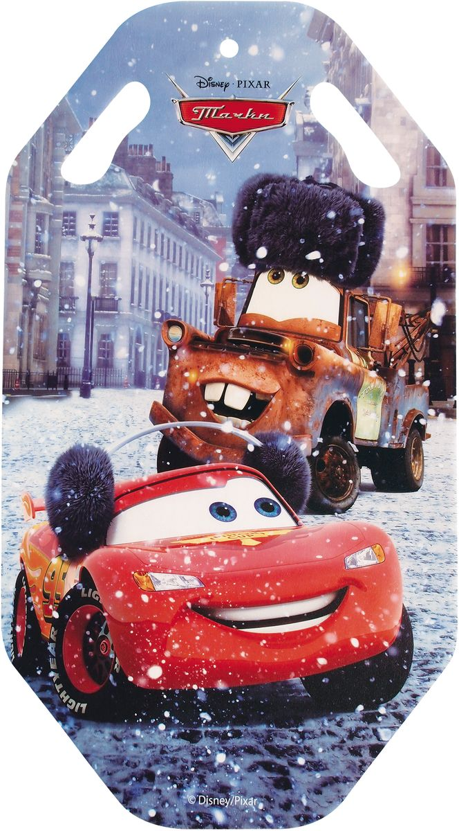 Ледянка 1TOY Disney. Тачки, цвет: красный, длина 92 смТ57207Ледянка с прорезями для рук - для любителей зимних спортивных развлечений с героями любимого мультфильма. Выполнена из ПВХ. Ледянка подарит много радостных моментов вашему ребенку.Зимние игры на свежем воздухе. Статья OZON Гид