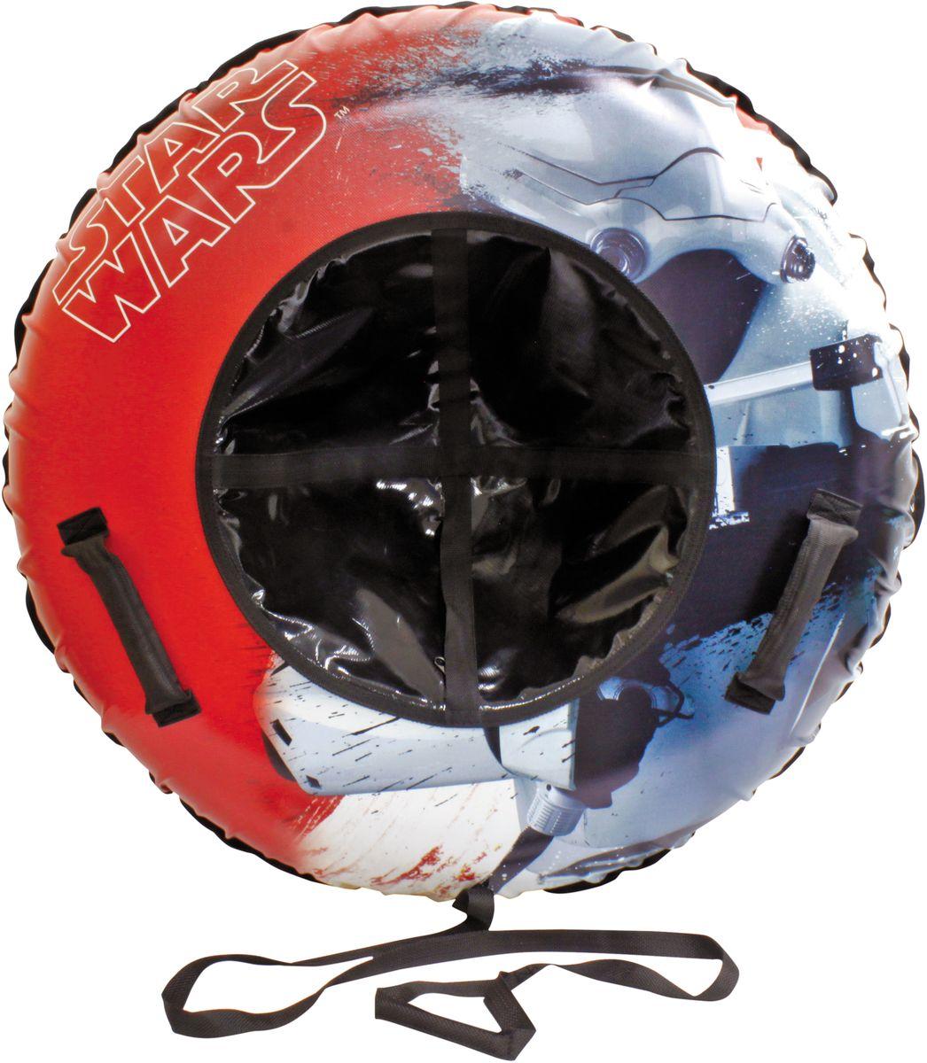 Тюбинг 1TOY Звездные Войны, цвет: красный, 100 смТ59059Тюбинг Star Wars - Надувные сани, резиновая автокамера, материал глянцевый ПВХ 500 гр/кв.м., 100 см, буксировочный трос. Надувные сани в последнее время стали очень популярным развлечением зимой. Специальные материалы и уникальная конструкция днища превосходно скользят, даже если снега совсем немного. Высокая прочность позволит весело проводить время детям и взрослым, не заботясь о поломках. Модель очень вместительная, возможность соскальзывания практически исключена.