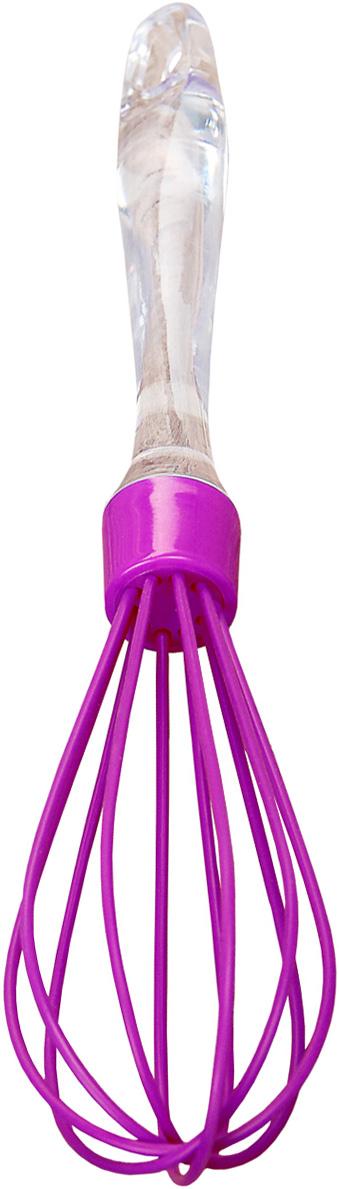 Венчик Доляна Лед, цвет: фиолетовый, длина 25 см811872Венчик Доляна Лед изготовлен из силикона и пластика. Венчик является необходимым помощником каждого повара. Простое и надежное изделие служит аналогом миксера и блендера и предназначено для взбивания различных продуктов. Венчик прост в обращении и не требует затрат электроэнергии. Кроме того, изделие легко моется и при аккуратном использовании имеет неограниченный срок годности.Длина венчика6 25 см.Размер рабочей части: 10 х 4,5 см.
