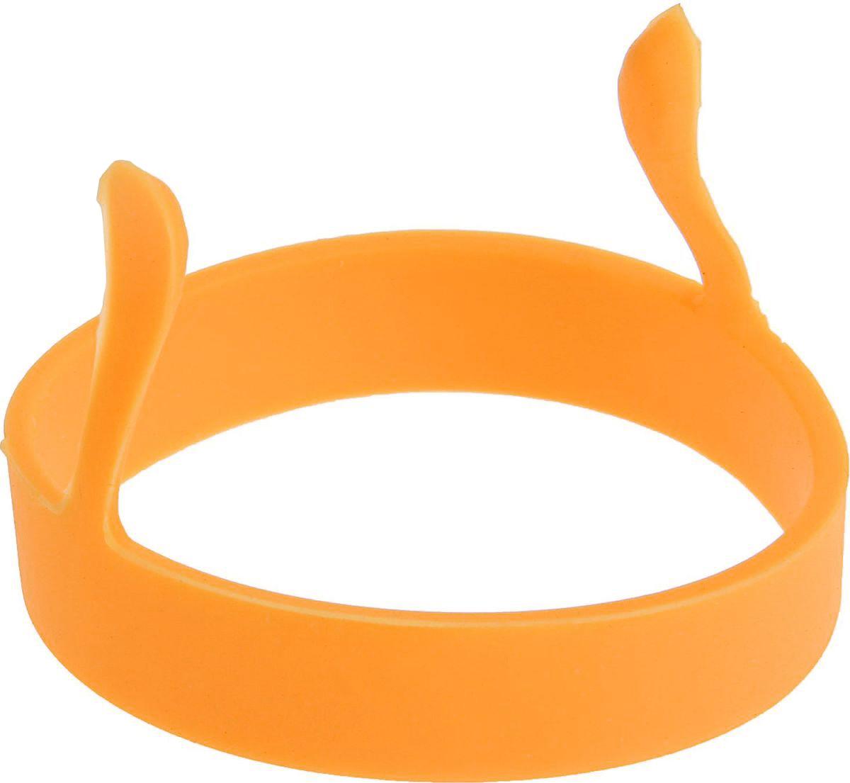Форма для яичницы и блинов Доляна Круг, цвет: оранжевый, 8 см811913Вкусные блины, оладьи, омлеты и яичницы нравятся всем. Сделать хорошо знакомые блюда поводом для кулинарной гордости поможет специальная форма из силикона. Налейте на сковороду масло и поставьте на средний огонь, расположите форму в центре и наполните её тестом или разбейте внутрь яйцо, обжаривайте до готовности.Силикон обладает важными достоинствами: выдерживает температуру от -40 до +230 °C, не обжигает руки при готовке, легко отмывается, в том числе в посудомоечной машине, благодаря высокой гибкости и прочности служит долгое время.