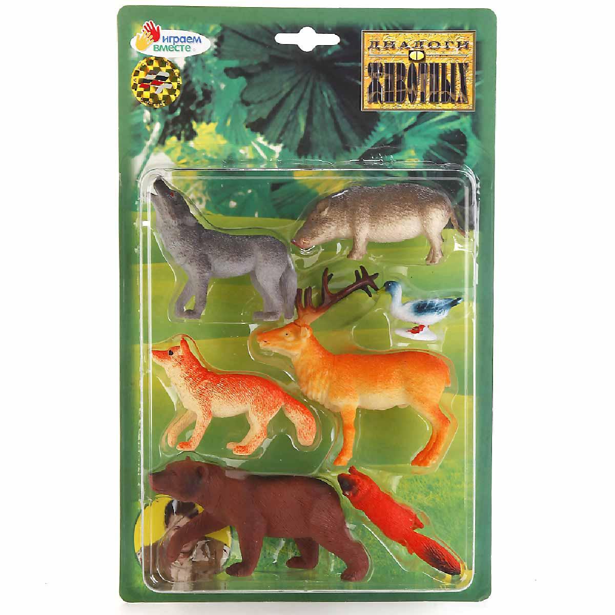 Играем вместе Набор фигурок Лесные животные 8 см 7 шт