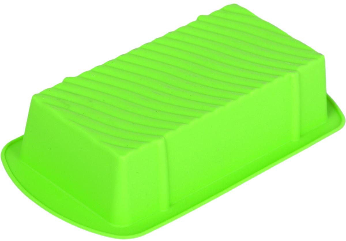 Форма для выпечки Доляна Кекс, цвет: салатовый, 14 х 8 х 3 см1000352_салатовыйФорма для выпечки Доляна Кекс, цвет: салатовый, 14 х 8 х 3 см