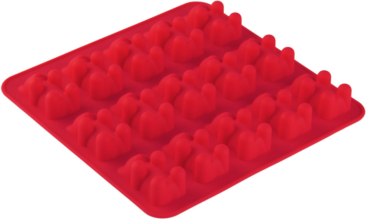 Форма для льда и шоколада Доляна Медвежата, цвет: алый, 15 ячеек, 18 х 2 см1005226Силикон не теряет эластичности при отрицательных температурах (до - 40 градусов), поэтому, готовые льдинки легко достаются из формы и не крошатся. Лед получается идеальной формы. С силиконовыми формами для льда легко фантазировать и придумывать новые рецепты. В формах можно заморозить сок или приготовить мини порции мороженого, желе, шоколада или другого десерта. Особенно эффектно выглядят льдинки с замороженными внутри ягодами или дольками фруктов. Заморозив настой из трав, можно использовать его в косметологических целях.
