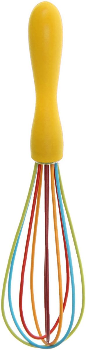 Венчик Доляна Профи, цвет: желтый, длина 24 см1128817Венчик Доляна Профи изготовлен из силикона и пластика.Венчик является необходимым помощником каждого повара. Простое и надежное изделие служит аналогом миксера и блендера и предназначено для взбивания различных продуктов. Венчик прост в обращении и не требует затрат электроэнергии. Кроме того, изделие легко моется и при аккуратном использовании имеет неограниченный срок годности.Длина венчика: 24 см.Размеры рабочей части: 5 х 5 см.