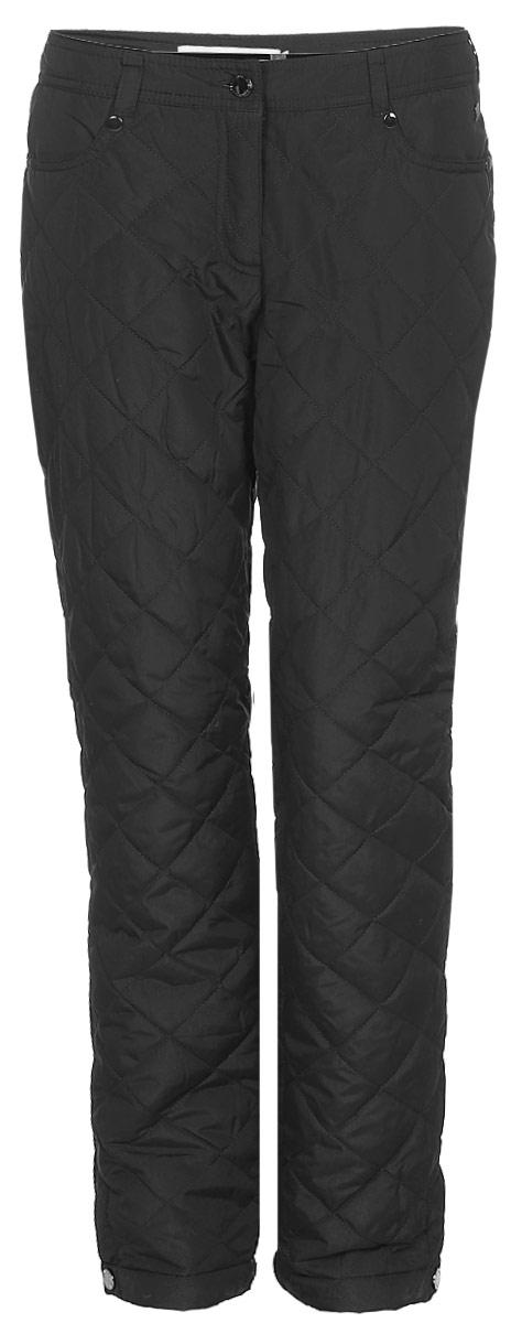 Брюки утепленные женские Finn Flare, цвет: черный. W17-12017_200. Размер M (46) брюки женские finn flare цвет черный w16 170150 200 размер m 46