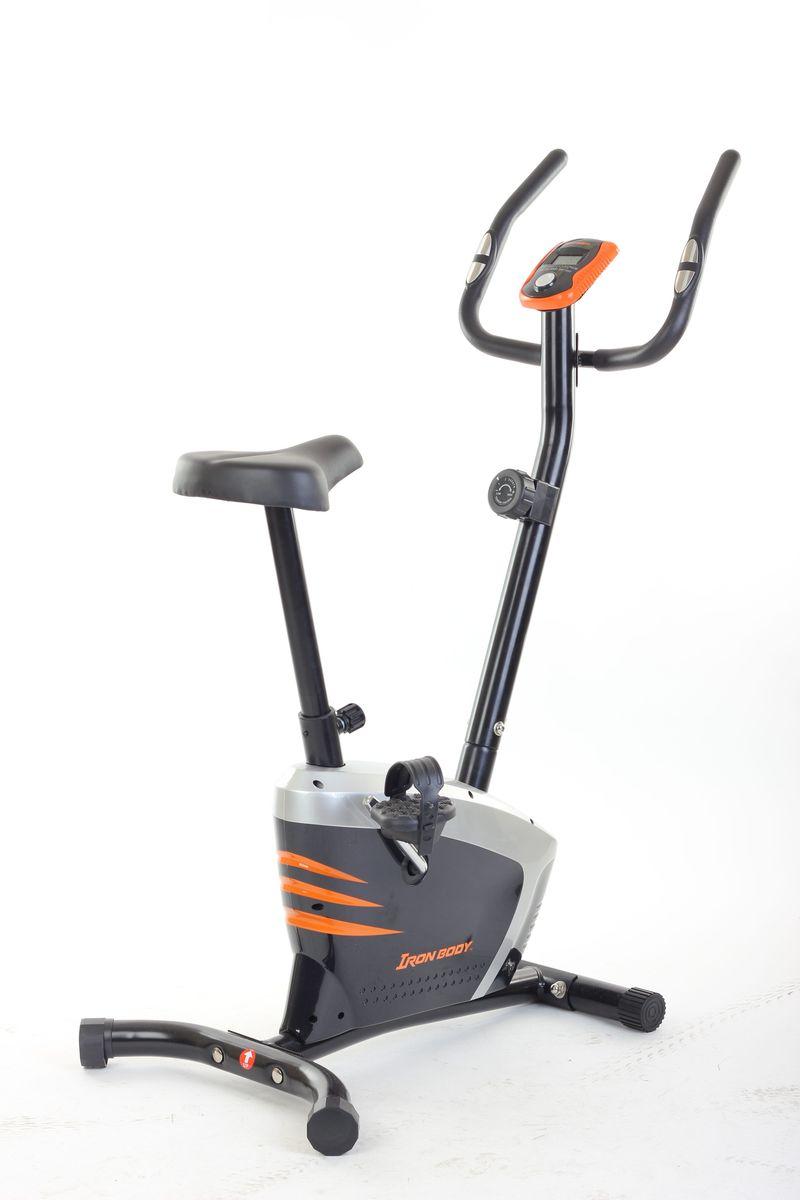 Велотренажер Iron Body 7041BK, магнитный, цвет: черный281204Велотренажер Iron Body 7041BK отлично подойдет любителям активного отдыха, а также людям, испытывающих проблемы со здоровьем и лишним весом.Если вы хотите укрепить здоровье, но не желаете ездить в фитнес-клуб, то домашний велотренажер Iron Body 7041BK прекрасно подходит для этих целей. От лишних калорий не останется и следа!Удобная форма тренажера, стильный дизайн будут радовать вас каждый день!Масса маховика: 4 кг. Система нагрузки: магнитная, 8 уровней. Система HP: измерение пульса при помощи металлических датчиков на ручках. Монитор: время, скорость, пройденная дистанция, количество израсходованных калорий, пульс. Режимы: ODO. Питание компьютера: батарейки. Транспортировочные ролики. Размеры в собранном виде: 85 х 55 х 127 см.Масса в собранном виде: 18,75 кг. Максимальный вес пользователя: 100 кг.Как выбрать кардиотренажер для похудения. Статья OZON Гид