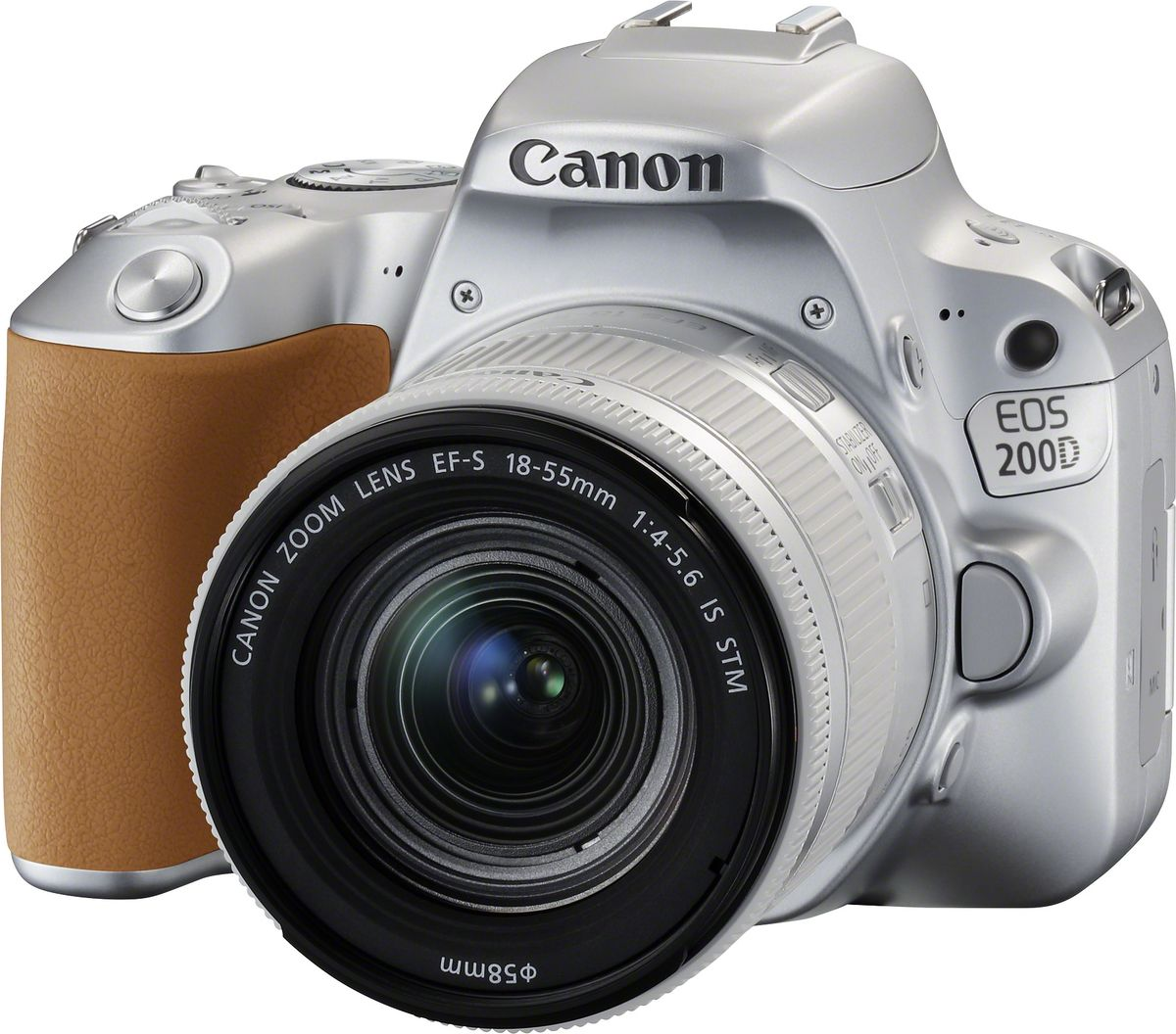 Canon EOS 200D Kit 18-55 IS STM, Silver цифровая зеркальная фотокамера фотоаппарат canon eos 200d body silver