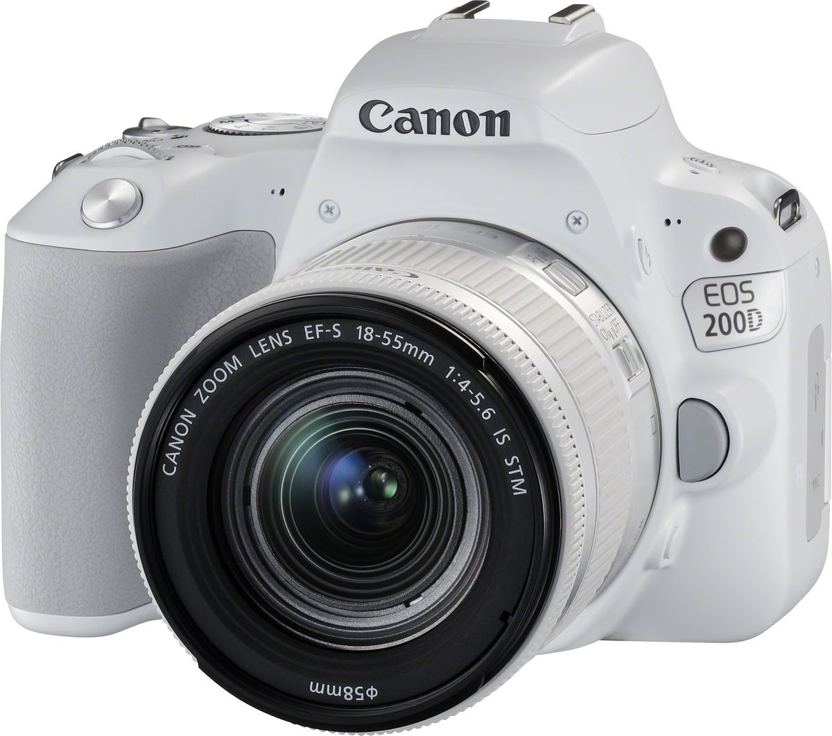 Canon EOS 200D Kit 18-55 IS STM, White цифровая зеркальная фотокамера 2253C001