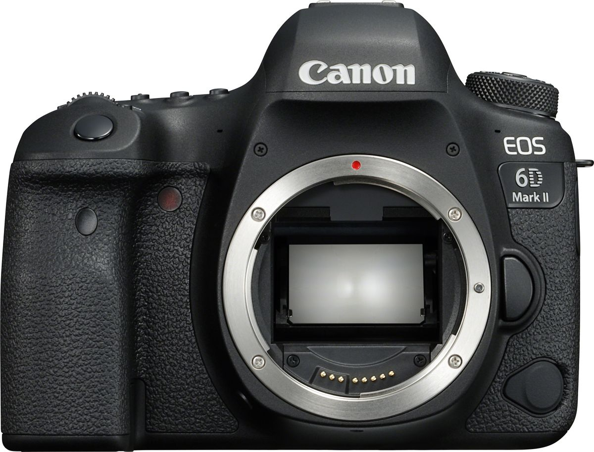 Canon EOS 6D Mark II Body, Black цифровая зеркальная фотокамера meike dslr camera built in 2 4g battery grip for canon eos 7d mark ii as bg e16