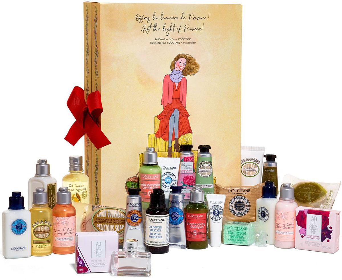 LOccitane Подарочный набор Адвент-календарь485606Европейская традиция - маленькие подарки каждый день. Слово адвент заимствованно из латинского языка и переводится как пришествие. Так в христианском мире обозначается период, предшествующий Рождеству. Каждый день перед Рождеством имеет особое значение, и вы сможете каждый день открывать для себя новые сюрпризы вместе с Л'Окситан. В адвент-календаре представлены всеми любимые средства Л'Окситан, скрытые в маленькие окошечки, которые помогут сделать ожидание новогодних праздников по-настоящему волшебным!