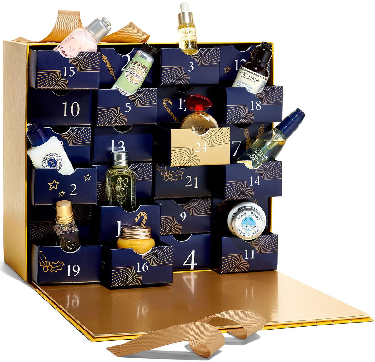 LOccitane Подарочный набор Премиальный адвент-календарь485613Европейская традиция - маленькие подарки каждый день.Слово адвент заимствованно из латинского языка и переводится как пришествие. Так в христианском мире обозначается период, предшествующий Рождеству. Каждый день перед Рождеством имеет особое значение, и вы сможете каждый день открывать для себя новые сюрпризы вместе с Л'Окситан. В этом году Л'Окситан представляет эксклюзивный адвент-календарь, оформленный в виде настоящей шкатулки с 24 ящичками, которая полна сокровищ для вашей кожи. В каждом ящичке вы найдете аромат, крем для рук или чудесный эликсир для кожи. Великолепный набор средств в мини-формате - настоящий праздник для тела и души!Переворачивайте пустые ящички и соберите праздничную картинку.