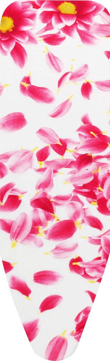Чехол для гладильной доски Brabantia Perfect Fit, 8 мм, цвет: розовый сантини, 124 х 45 см. 101885 чехол для гладильной доски brabantia ящерица с войлоком 124 см х 38 см цвет голубой 265006