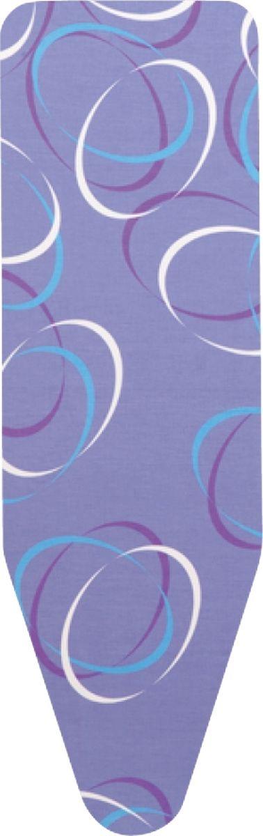 Чехол для гладильной доски Brabantia Perfect Fit, 2 мм, цвет: движущиеся круги, 124 х 38 см. 101984 brabantia чехол для гладильной доски декор движущиеся круги 124х38 см 101984 brabantia